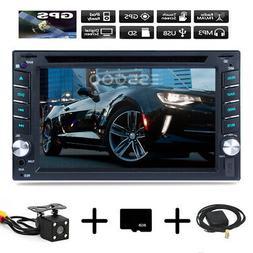 GPS 2 Din DVD CD Car Stereo Radio MP3 Player BT FM AM RDS Fr