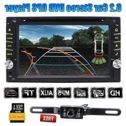 Backup Camera+GPS Double Din Car Stereo Radio DVD MP5 Player