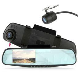 Pyle Backup Dash Cam Car Recorder DVR Front & Rear View Vide