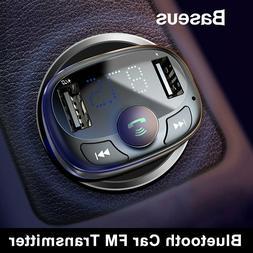 Baseus Wireless Bluetooth FM Transmitter Car USB Charger Ada