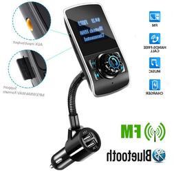 Bluetooth Car FM Transmitter Handsfree Radio Adapter Kit USB