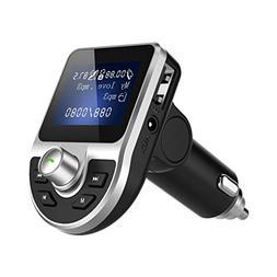 Aimik Bluetooth Car FM Transmitter, Radio Adapter Wireless M