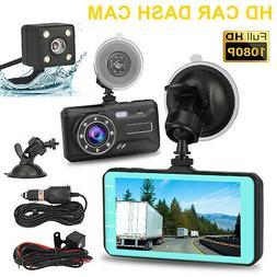 """4"""" 1080P HD 170° 3 Lens Car DVR Dash Cam G-sensor Recorder"""