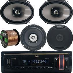 "JVC Bluetooth Car Radio, JVC 6.5"" and 6.75"" 2Way Car Speaker"