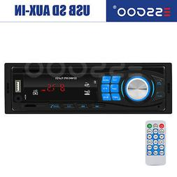 Bluetooth Car Stereo Audio In-Dash FM Aux Input Receiver TF
