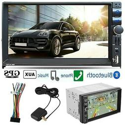 "Bluetooth Car Stereo DVD CD Player 6.2"" Double 2Din Radio iP"
