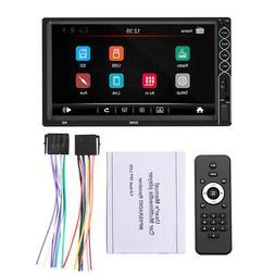 "Bluetooth Car Stereo Radio 2 DIN 7""Touchscreen FM HD MP5 Pla"