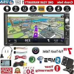 """Bluetooth Car Stereo Radio  2DIN 7"""" HD MP3 DVD Player Touch"""
