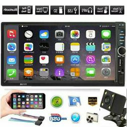 """Bluetooth Car Stereo Radio 2DIN 7"""" HD MP5 FM Player Touch Sc"""