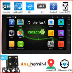 "Bluetooth Car Stereo Radio Android 7.1 2 DIN 7"" MP5 Player G"