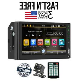 "Bluetooth Car Stereo Touch Screen 2DIN 7"" GPS MP5 FM Radio P"