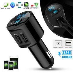 Bluetooth Car USB Charger FM Transmitter Radio Adapter MP3 P