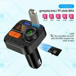 Bluetooth Car USB Charger FM Transmitter Wireless Radio Adap