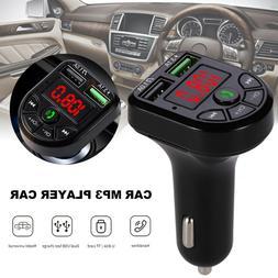 Bluetooth Car Wireless FM Transmitter MP3 Radio Adapter Car