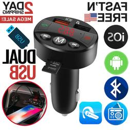 Bluetooth FM Transmitter Car Radio Adapter Wireless MP3 Dual