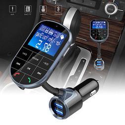 Bluetooth FM Transmitter Hands-free Car-Kit Radio AUX Audio