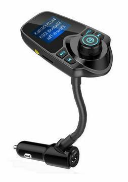 Nulaxy Bluetooth FM Transmitter Radio Adapter Car Kit Black