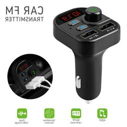 Bluetooth Handsfree Car Kit FM Transmitter Modulator Aux Aud