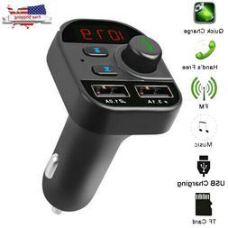 Bluetooth In-Car Wireless FM Transmitter Radio MP3 Adapter C