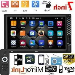 Bluetooth Player Stereo Radio Car 7'' 2 DIN MP5 Touch Screen