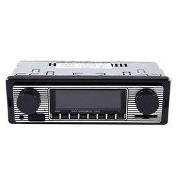 Bluetooth Vintage Car Radio MP3 Player Stereo USB Classic Ca