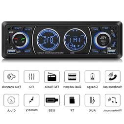 Car Audio Player, Car Stereo with Bluetooth Single Din Car S