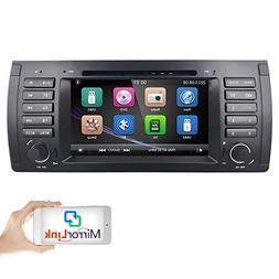 hizpo Car DVD Player in Dash GPS Radio Stereo 7 Inch 1 Din M