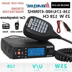 Car Mobile VHF/UHF Dual-Band Radio Transceiver Walkie Talkie