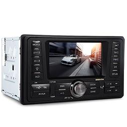 Car MP3 Car Audio Radio Receiver Large Screen With Rear View