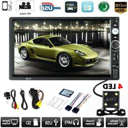 "Car MP5 Player 7"" Double 2DIN Bluetooth Touch Screen Stereo"