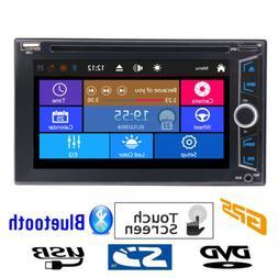 Car Radio Bluetooth GPS Touchscreen DVD Player Double 2 Din