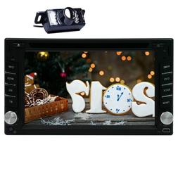"Car Radio GPS 6.2"" Touchscreen Double Din DVD Player Bluetoo"