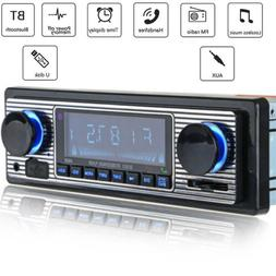 Car Radio MP3 Player Bluetooth Vintage Stereo USB AUX Classi