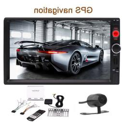 Car Radio Stereo Touchscreen GPS MP3 MP5 DVD player Double D