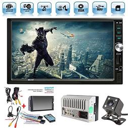 "Car Rear View Camera + Ewalite 7"" inch Double Din Touchscree"