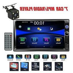 """Regetek Car Rear View Camera + Double Din 7"""" Touchscreen In"""