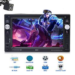 Car Stereo with Bluetooth Double Din 6.2 Inch Touch Screen L