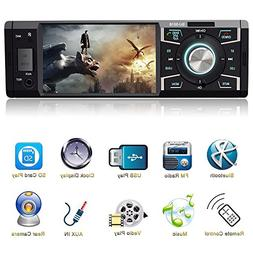 4.1 Inch Car Stereo with Bluetooth Single Din Car stereo FM