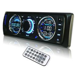 Car Stereo Audio In-Dash AM FM Aux Input Receiver with SD US