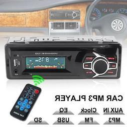 Car Stereo Audio FM Radio Aux Input Receiver TF SD USB MP3 C
