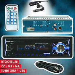 Car Stereo Audio Radio Receiver w/ Bluetooth In-Dash FM SD U