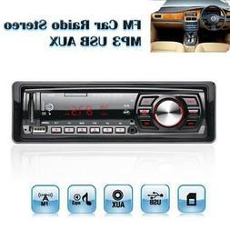 Car Stereo Audio In-Dash FM Aux Input Receiver SD USB MP3 WM