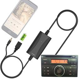 Car Stereo AUX Input Adapter, Auxiliary Cable Cord USB Charg