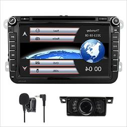 Car Stereo HD 8 Inch Double 2 Din GPS Navigation DVD auto Au