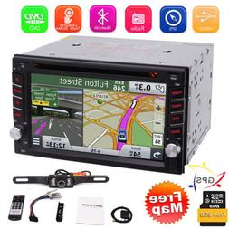 Car Stereo GPS Navigation Bluetooth Radio Double 2 Din 6.2""