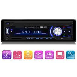Car Stereo with Bluetooth Single din in Dash, AM FM Car Radi