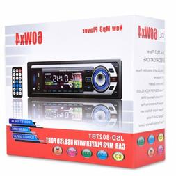 Car Stereo Radio Audio MP3 Player 4x60W USB FM AUX 1 DIN Blu