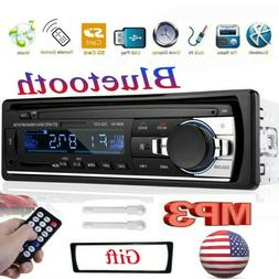 Car Stereo Radio Bluetooth Audio FM Aux Input Receiver TF US