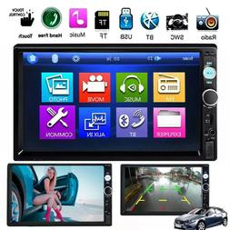 "Car Stereo Radio Bluetooth Audio Receiver Double Din 7"" Touc"