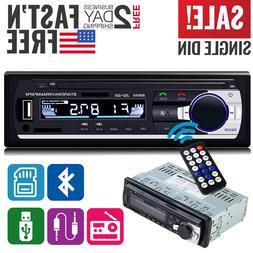 Car Stereo Receiver Radio Bluetooth In Dash 1 Single Din MP3